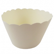 Cream / Ivory Cupcake Wrappers x 50 Per Pack